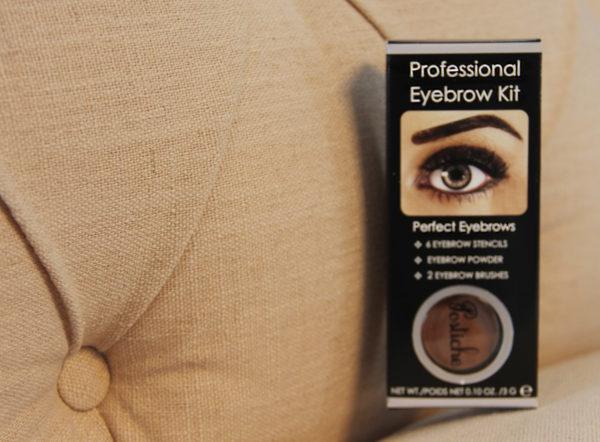 Eyebrow Kit stencils, powder, brushes